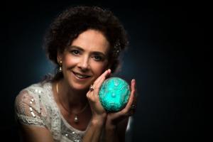 Lia Scallon with Luminous Pearl