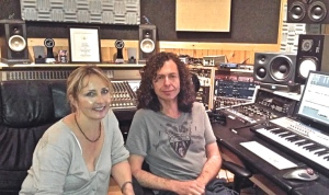 Kristin with producer Alex Salzman