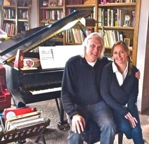 Kristin with David Lanz