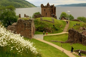 Scottish castle ruins