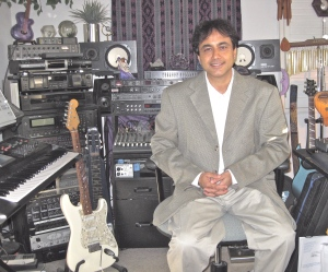 Rupam at Michael Diamond's studio
