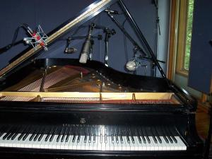 The legendary Steinway at Imaginary Roads Studio
