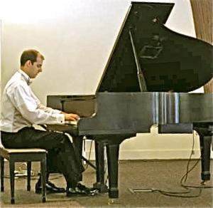 Tim at piano