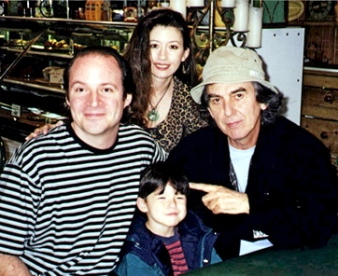 Steven with his wife, son, and the late George Harrison