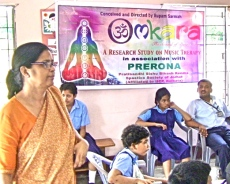 Omkara therapy w/ disabled children