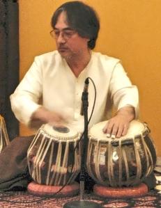 Ray on tabla drum