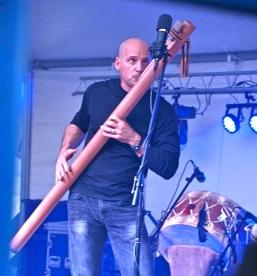 Michael on contrabass flute