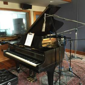 piano at Imaginary Road Studios