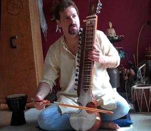 Vito playing an esraj