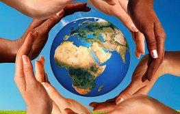 Conceptual peace and cultural diversity symbol of multiracial ha
