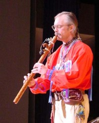 Al playing Native American flute