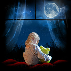 Lullaby Art for Candice Night created by Mariana Roberts (Little Angelina with Curly Hair)-S