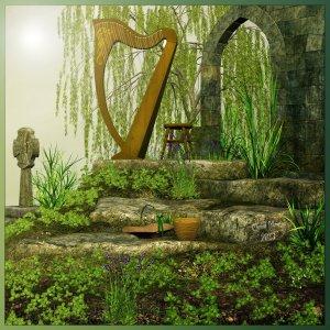 celtic_harp_by_cherishedmemories-d5xwj9u