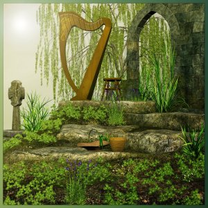 celtic_harp_by_cherishedmemories-d5xwj9u
