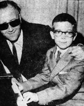 George Shearing and young Kevin Kern
