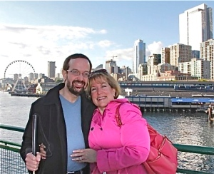Kevin and wife Pam while on tour.